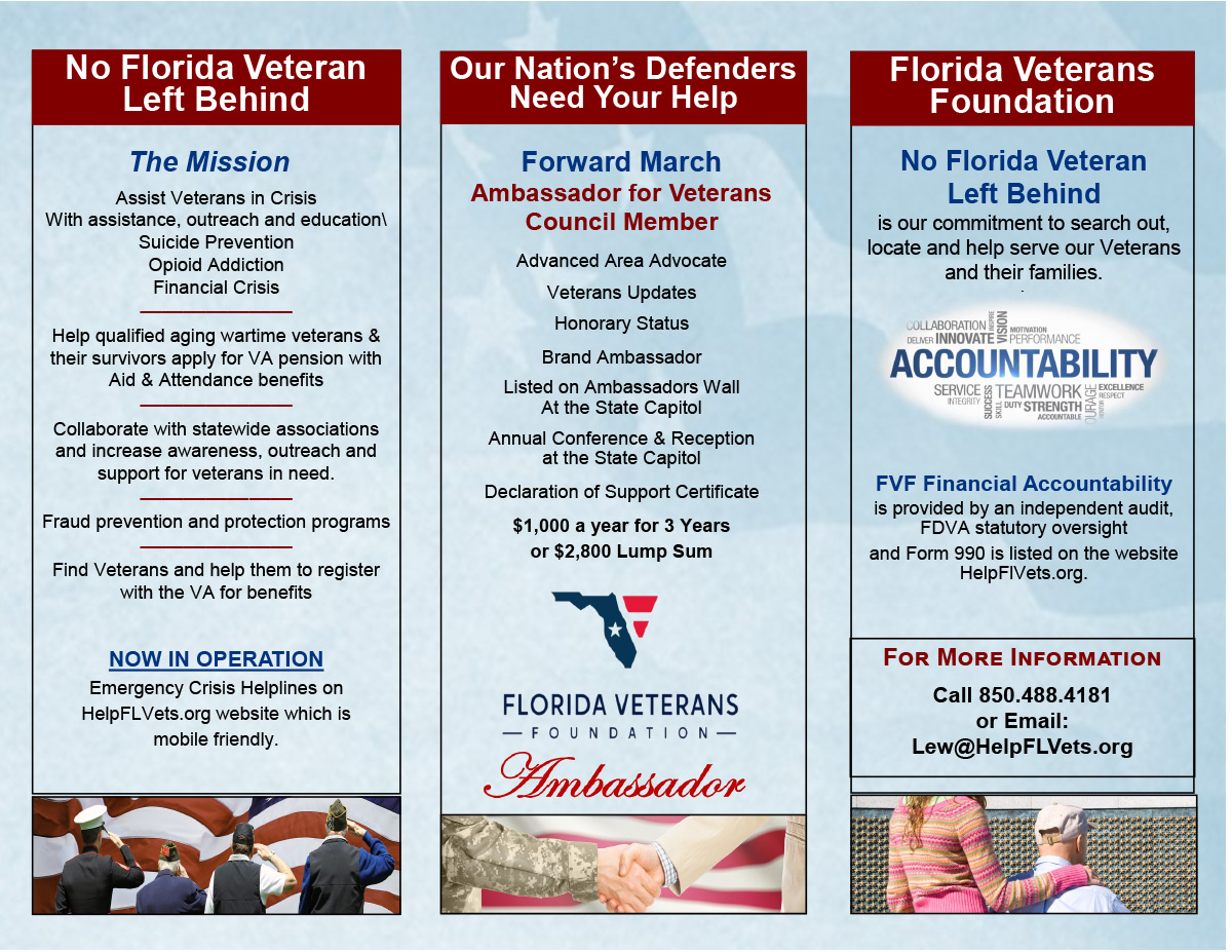 Forward March Ambassadors for Veterans Council